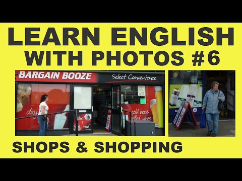 Learn English With Photos 6 -  Shops and Shopping