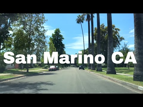🔴  San Marino Realtor Driving Tour 4K
