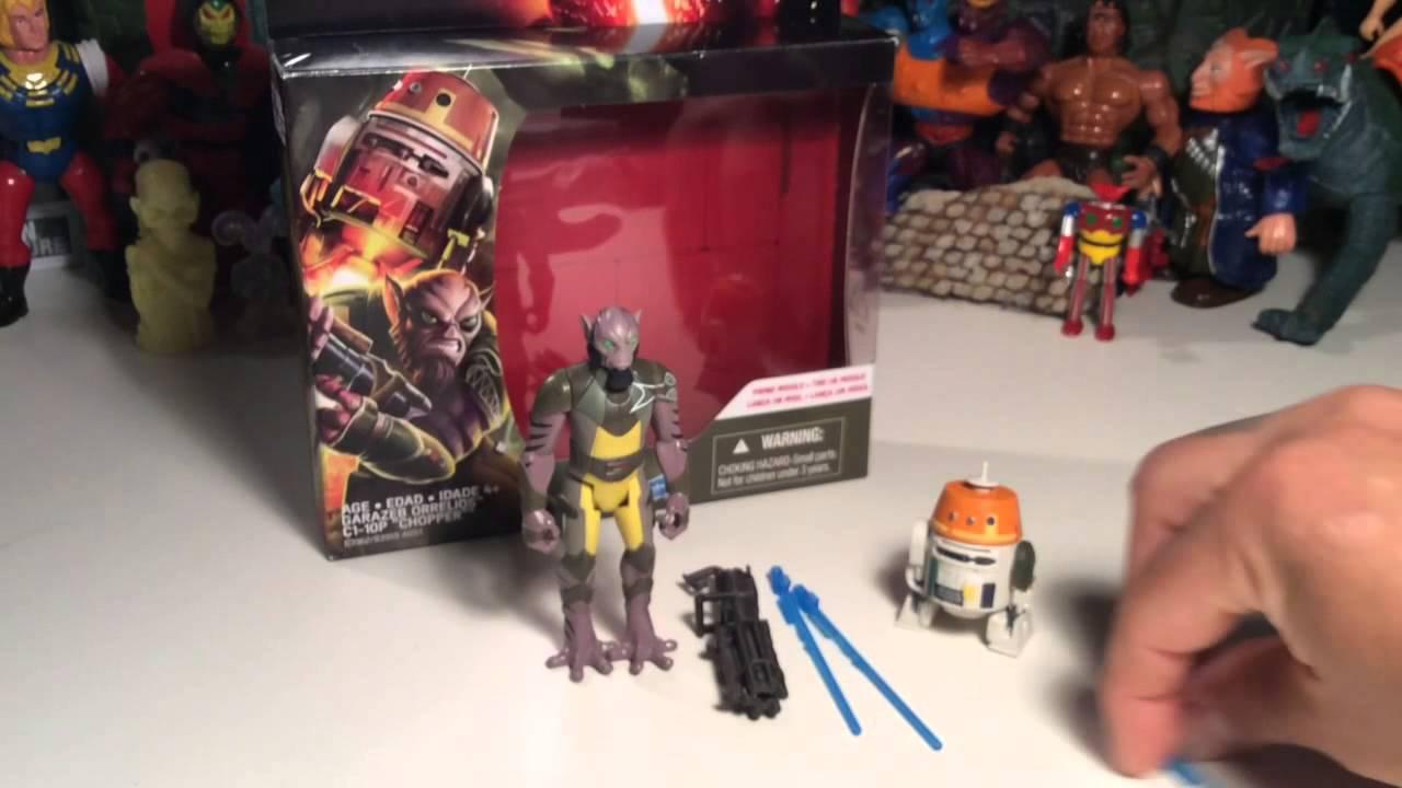 Chopper Star Wars Rebels 3.75 Figure 2-Pack Garazeb Orrelios and and C1-10P
