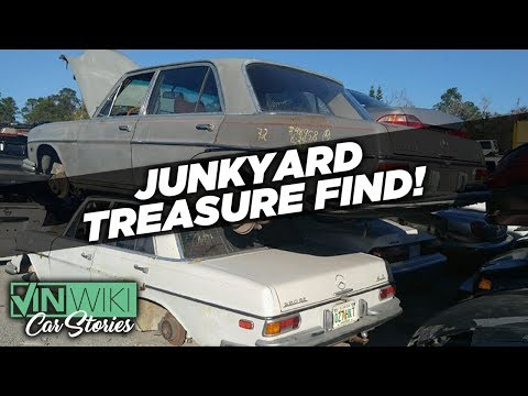 We found hidden treasure in a junkyard Benz