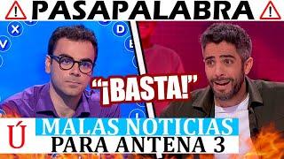 """""""Expulsado"""" La peor noticia posible llega a Pasapalabra con Pablo y Javier:  el público, harto"""