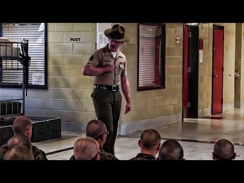 Recruits Meet Drill Instructors • USMC Boot Camp