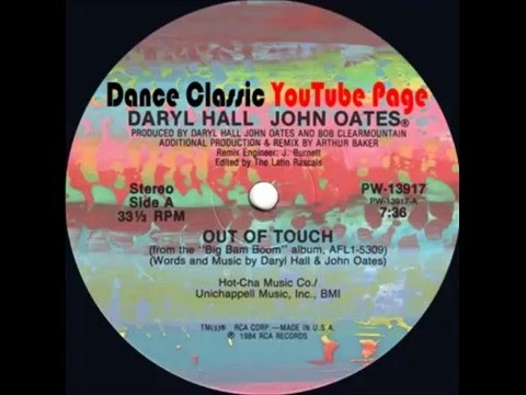 Daryl Hall & John Oates - Out Of Touch (A Arthur Baker Mix)