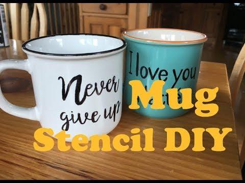 Mug Stencil Diy Project