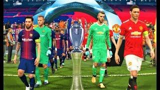Download Video Manchester United vs Barcelona   Messi 4 Goals   UEFA Champions League 2018 Final   PES 2018 HD MP3 3GP MP4