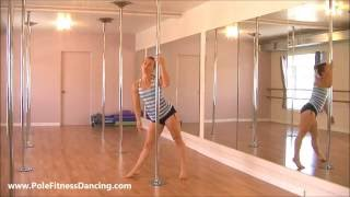 Beginner Pole Dance Routine * Step by Step Online Pole Dancing Lessons At Home * PART 1
