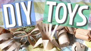 8 Paper Tube Small Animal DIY Toys!