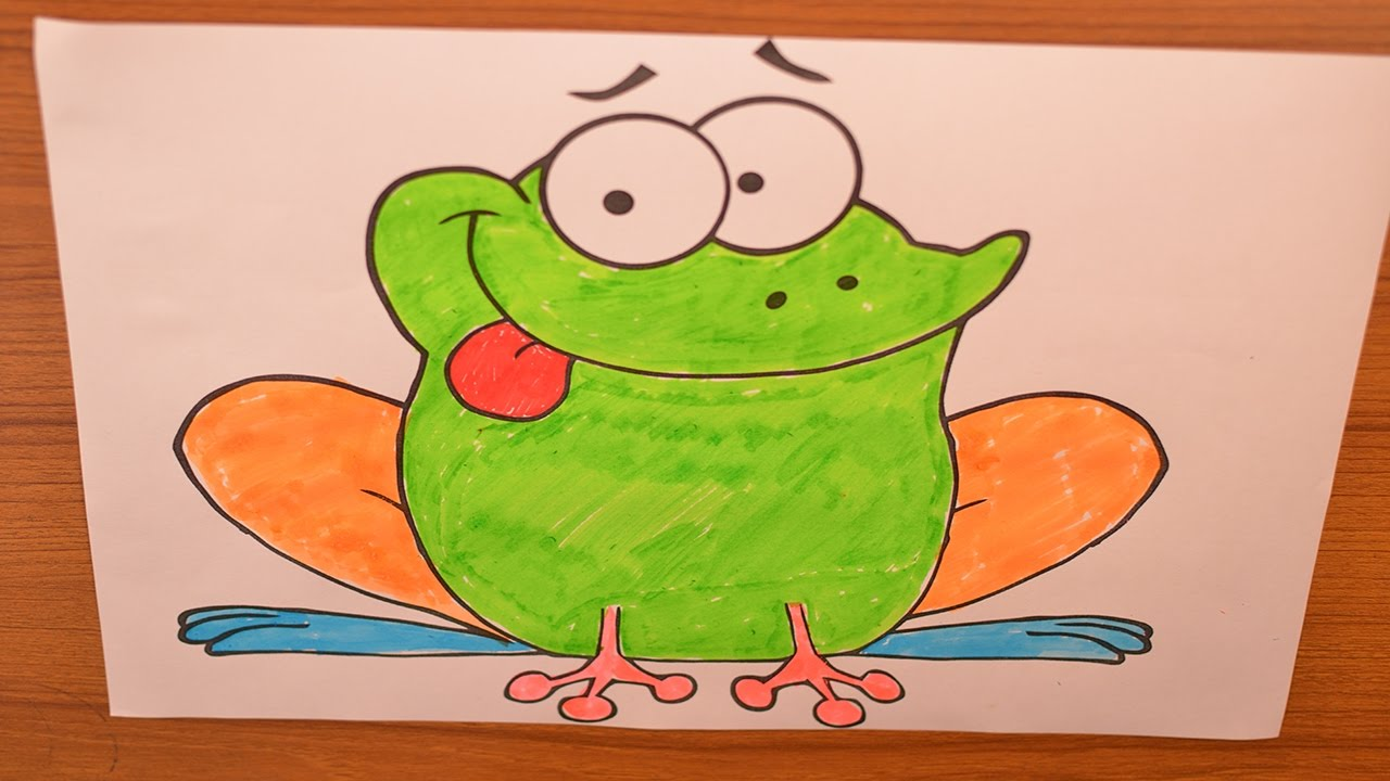 COLORING A FROG FOR PRESCHOOLERS & TODDLERS | COLORING BOOKS BY ...