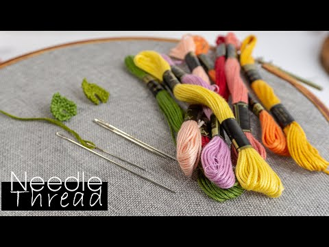 Hand Embroidery for beginners | Needle and Threads | HandiWorks #103