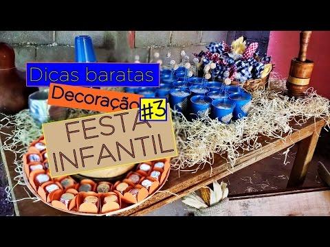 Dicas Baratas de Decoração Festa Infantil #3 - Fazendinha