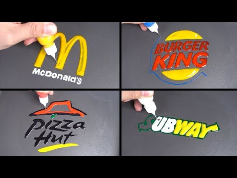 Food Pancake Art - McDonald's, Burger King, Pizza Hut, Subway