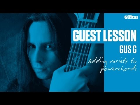 Gus G Guest Lesson - Adding variety to powerchords (TG238)