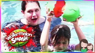 Ava bekommt eine Schleim Dusche 😂 Watermelon Smash Challenge - Alles Ava