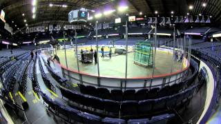 Allstate Arena change-over Depaul basketball to Wolves hockey time-lapse