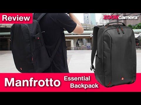 รีวิวกระเป๋ากล้อง Manfrotto Essential Backpack - YouTube fb60e00fadc02