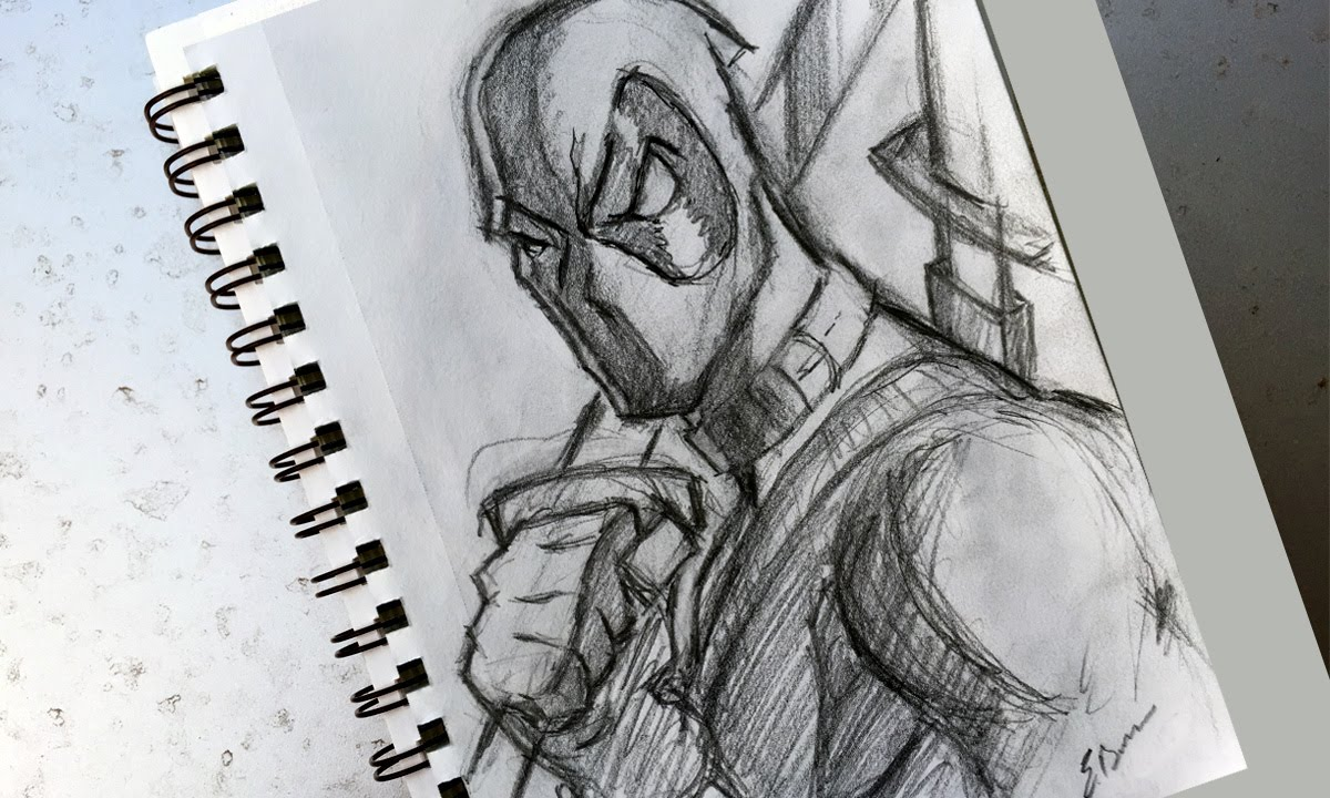 How To Sketch: Deadpool - YouTubeDeadpool Sketch