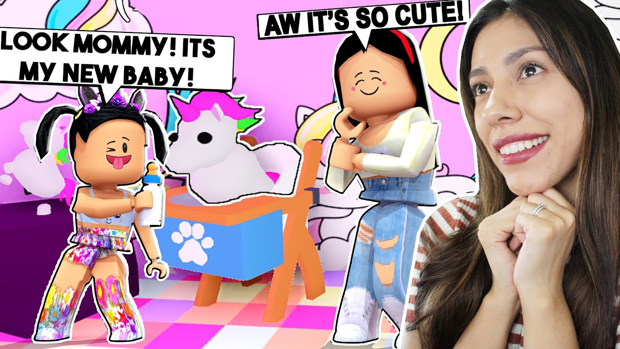Cute Baby Unicorn Roblox I Bought My Spoiled Daughter A Baby Unicorn For Her Unicorn Mansion Roblox Adopt Me Youtube