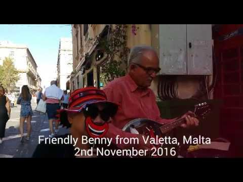 Benny, the friendly musician at Valetta, Malta