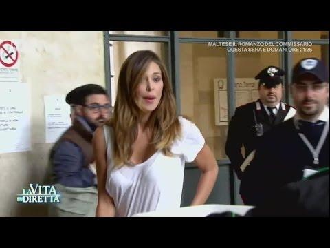 Tacco 12 e jeans aderente: lo  di Belen Rodriguez in tribunale  La Vita in Diretta 15052017