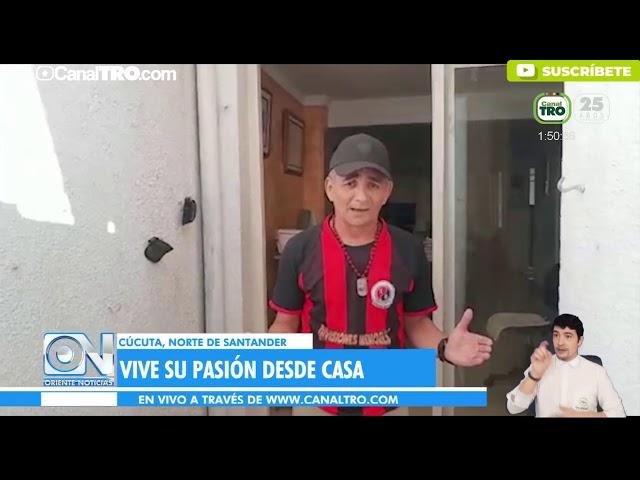 Hincha fiel del Cúcuta Deportivo vive su pasión desde su casa