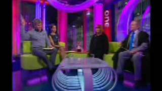simon warr on the one show with Adrian Chiles, Christine Bleakley and Dawn French