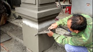 How To Build A Square Pillar Using Sand And Cement Using Craft Techniques