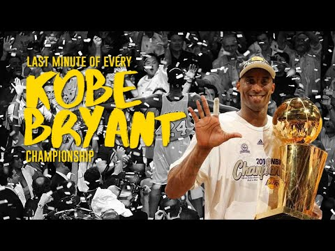 Last 1 Minute Of Every Kobe Bryant Championship