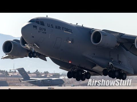 C-17 And KC-135 Joint Demonstration - Aviation Nation 2019 - Nellis AFB