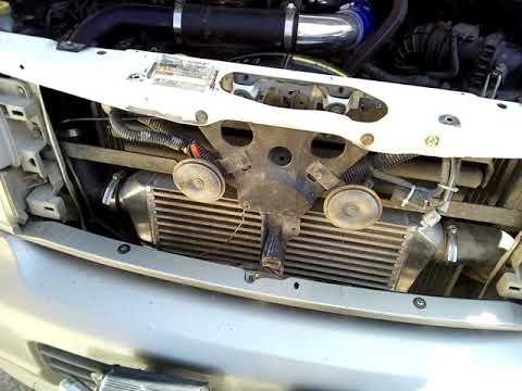 Nissan Elgrand QD32 замена интеркулера.