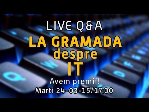 LIVE - La gramada despre IT - Q&A - Avem premii :)