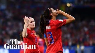 'Wah, wah, wah': Megan Rapinoe dismisses criticism of Alex Morgan's 'tea' celebration
