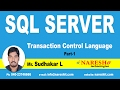 Transaction Control Language in SQL Server Part 1 | MSSQL Training