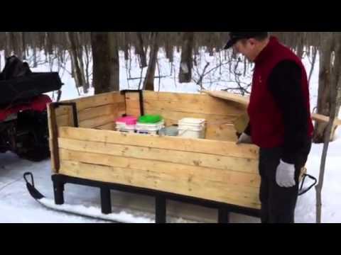 Tra neau bois et autres youtube - Fabriquer un pouf en bois ...