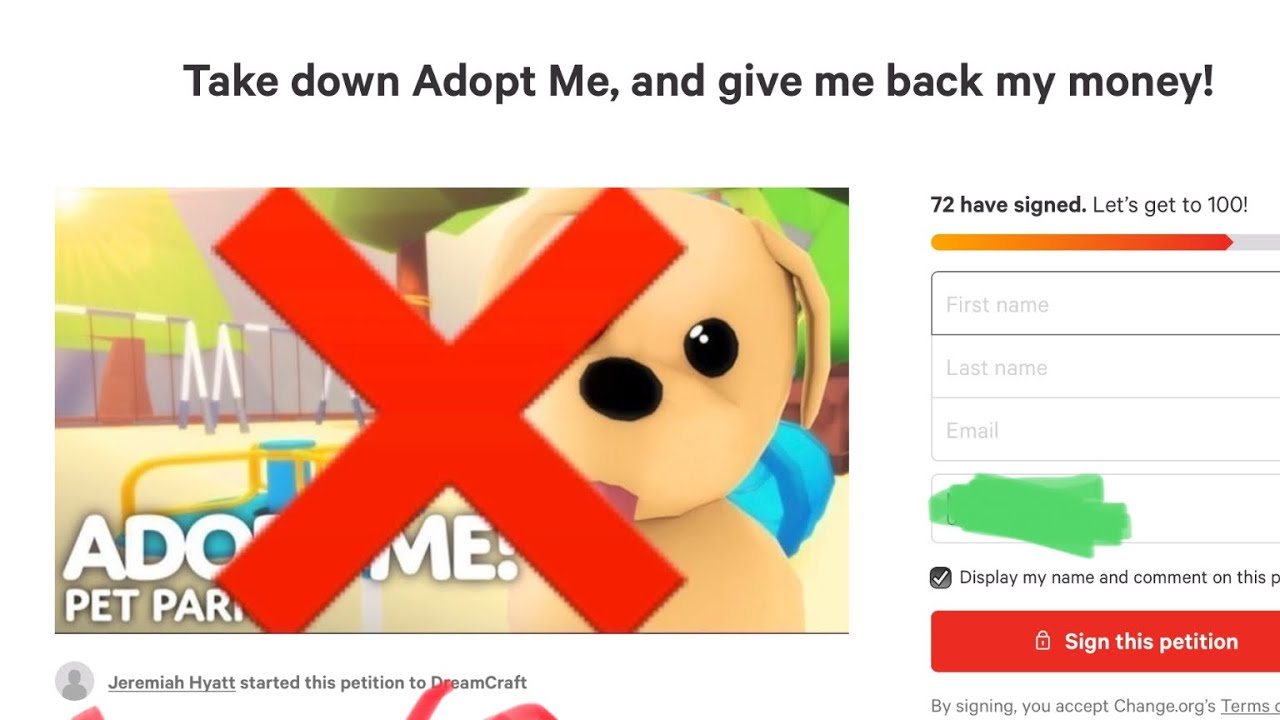 People Are Doing A Petition To Remove Adopt Me Roblox Youtube