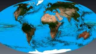 Ocean circulation, simulated by the finite element ocean model FESOM