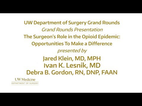 The Surgeon's Role in the Opioid Epidemic: Opportunities to Make a Difference