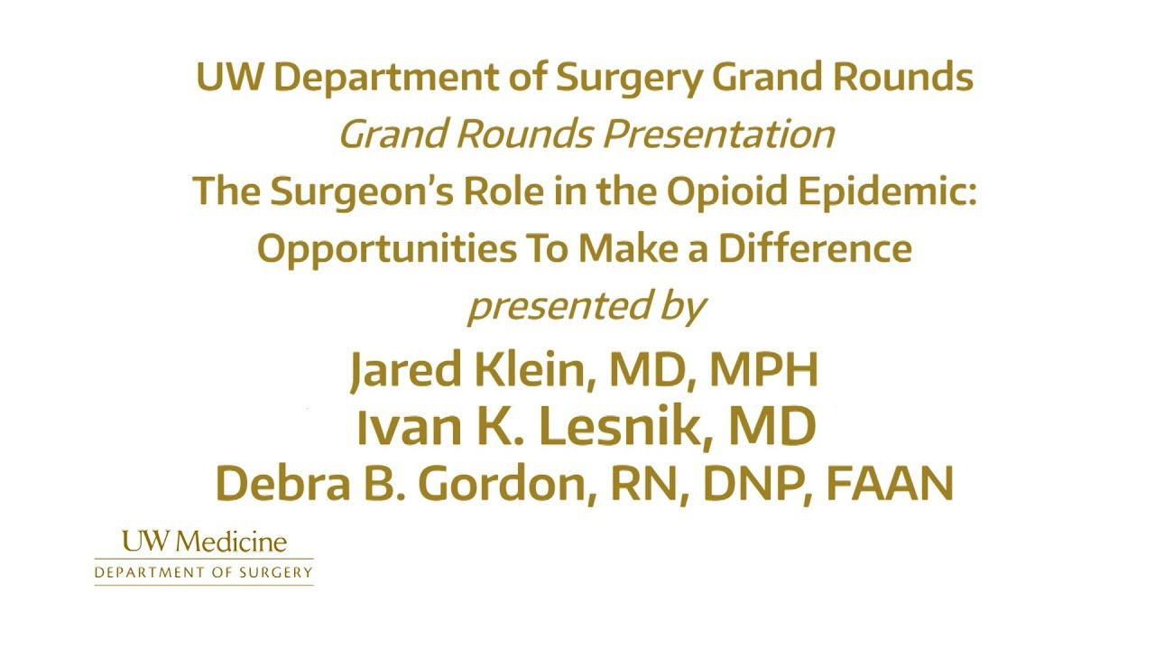 Grand Rounds Videos – Department of Surgery