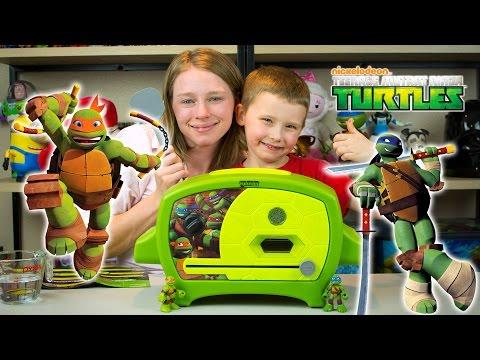 Teenage Mutant Ninja Turtles Pizza Oven TMNT Cooking Toys Review Kinder Playtime