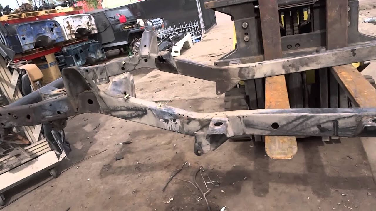 1987 1995 jeep wrangler yj 6 40 42 cylinder frame no rust for sale topside video
