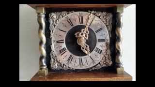 Warmink Dutch 8 Day Weight Driven Oak Zaanse Wall Clock, Strikes To Bell