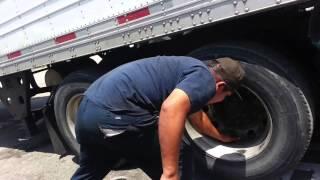 Flat Tire Repair Tractor trailer Heavy duty trucks roadside assistance Peachtree City, GA 404 399 34