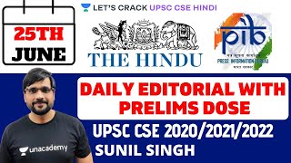25th June - Daily Current Affairs | The Hindu Summary & PIB - Pre Mains (UPSC CSE/IAS 2020)