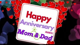 Happy Marriage Anniversary to Mom and Dad || wedding Anniversary Wishes Greetings quotes animations