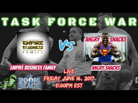 Boom Beach TASK FORCE WAR - Empire Business vs Angry Snacks - FORLORN HOPE - LIVE + Guest Co Host!