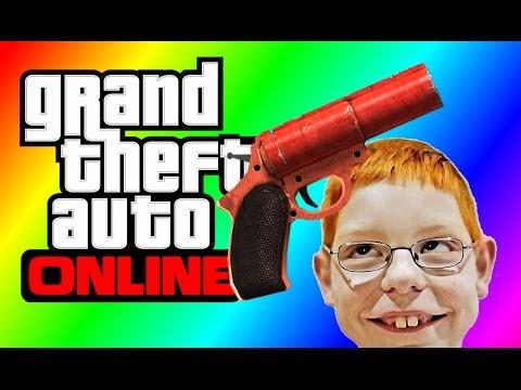 GTA 5 Flare Gun! (GTA Online Blazing Flare Madness!)