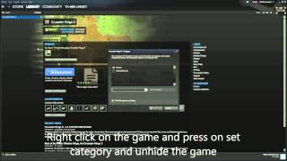 How to unhide a game on steam