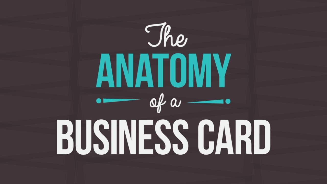 The Anatomy Of A Business Card: 10 Elements That Make A Business ...