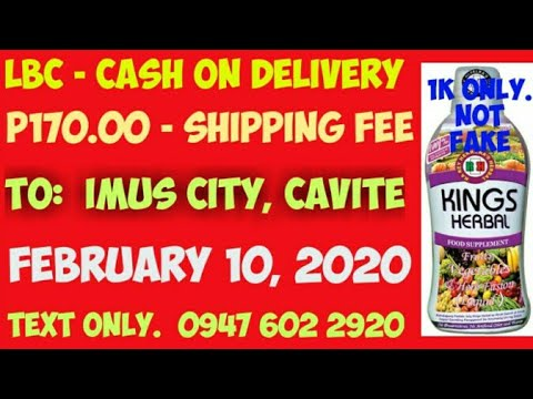Nagpa-COD ng Kings Herbal Food Supplement sa Imus City, Cavite, February 10, 2020. Salamat po.