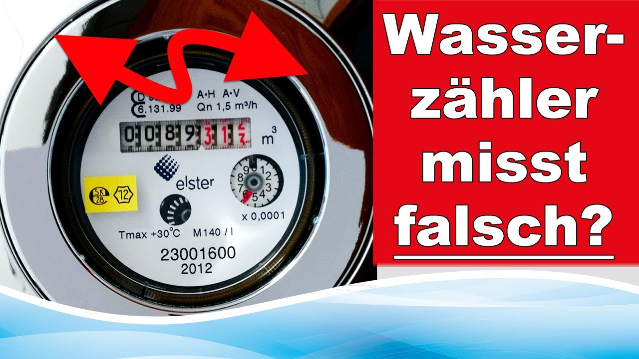 Hervorragend Zählt mein Wasserzähler falsch? - YouTube VX74