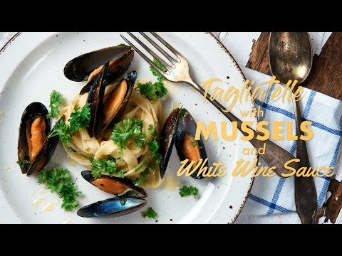 Tagliatelle with Mussels and White Wine Sauce
